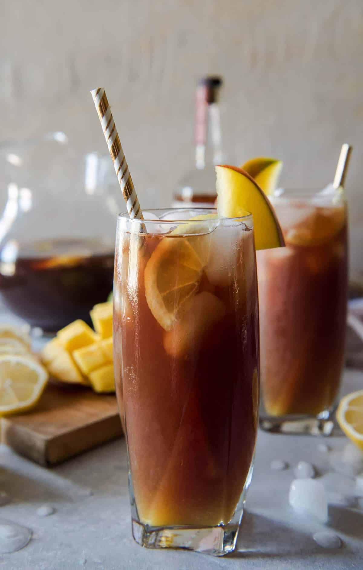 Southern Spiked Mango Iced Tea #BrunchWeek