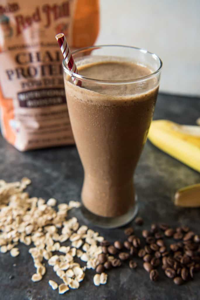 Mocha Oatmeal Breakfast Smoothies