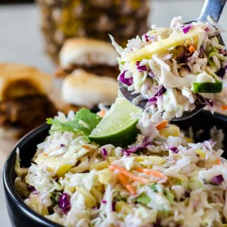 Fresh Pineapple Coleslaw