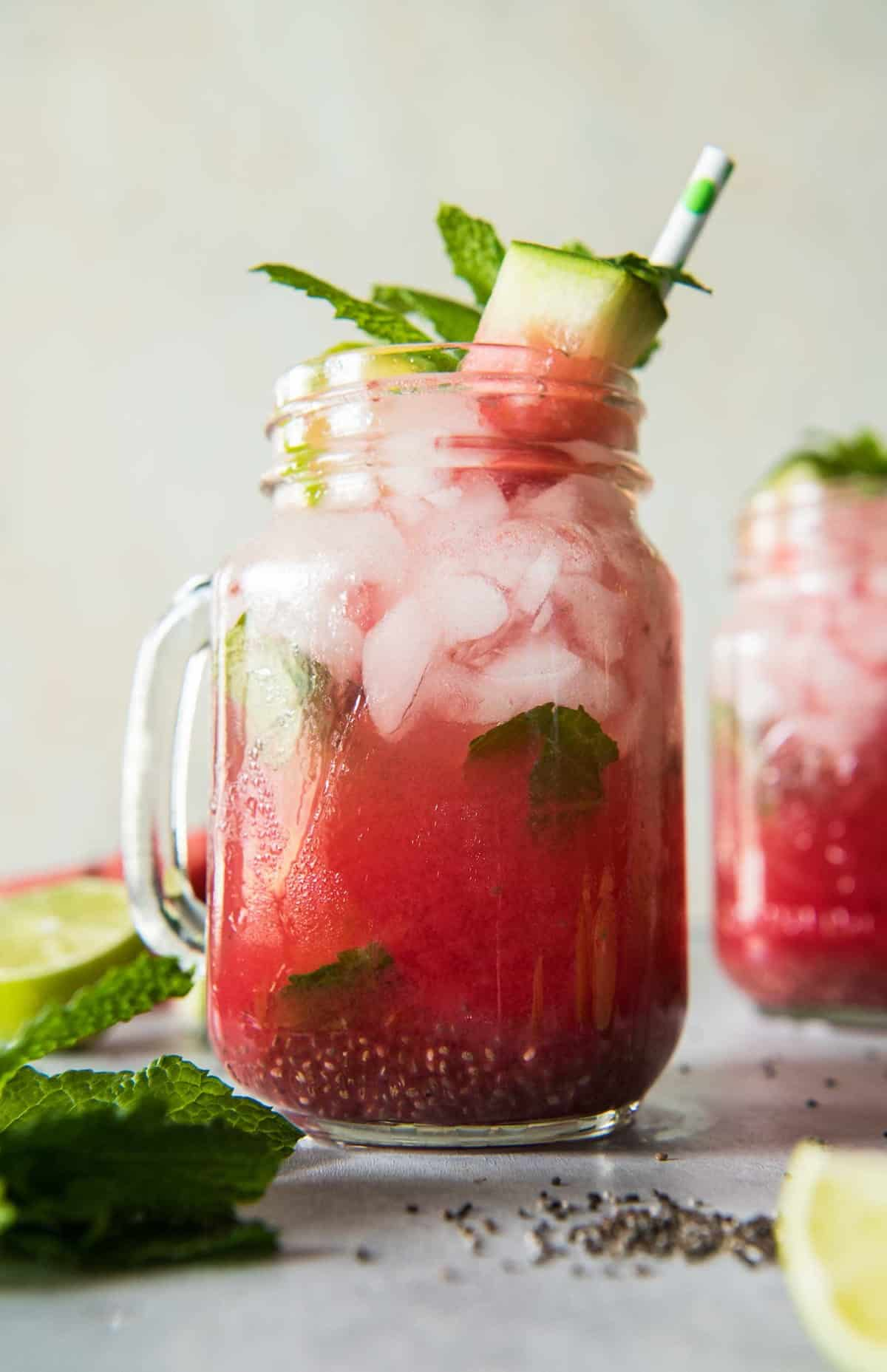 Fresh Summer Watermelon Mojito with Chia