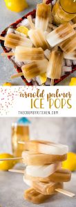 Bold and tangy, these super easy Arnold Palmer Ice Pops will remind you of Italian ice. They're an unbeatable way to cool down on a hot day!