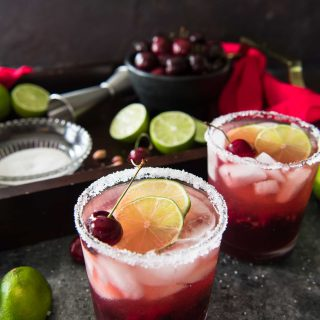 Fresh Cherry Margaritas #SundaySupper