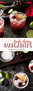 Take advantage of cherry season & enjoy a Fresh Cherry Margarita or two! Fresh cherries turn your ordinary cocktail into something extra special for summer!