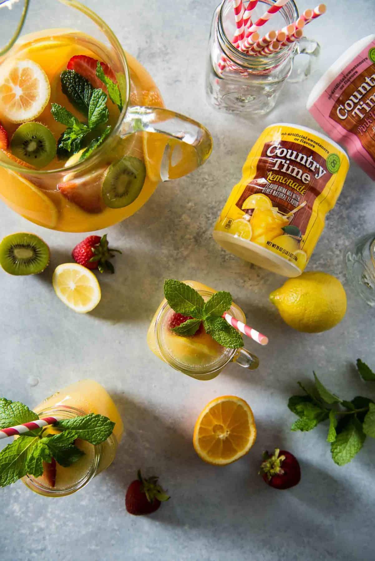 Orange Lemonade Twist Punch The Crumby Kitchen