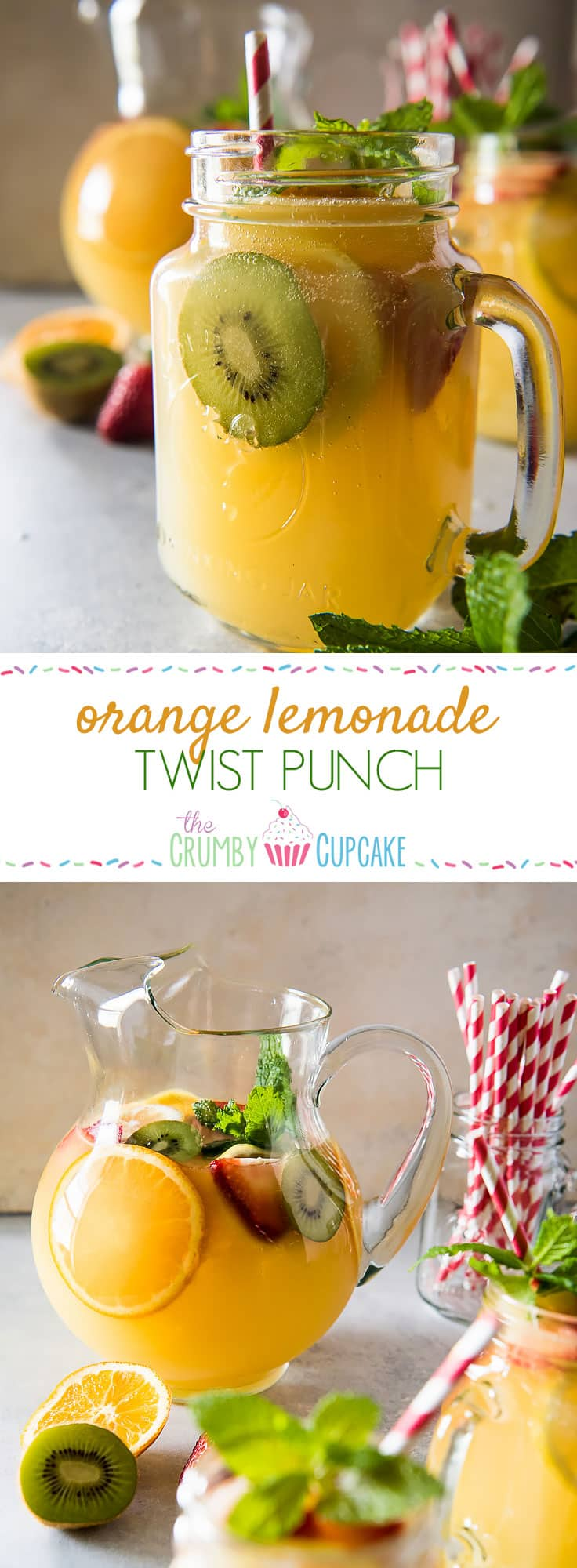 Cool down these hot summer days with a pitcher of Orange Lemonade Twist Punch! Fizzy, spicy, fruity - this refreshing drink is sure to wow your friends & family!