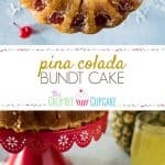 This Pina Colada Bundt Cake is unlike any you've had before! It takes the base of an old-fashioned soda-based cake and flips it on its head, turning it into a moist, tropical cocktail-flavored confection!