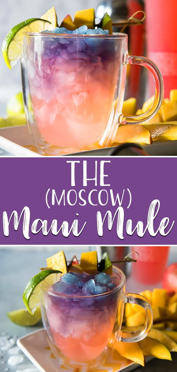 The Maui Moscow Mule puts a tropical twist on the classic cocktail! Trade out vodka for something a little more pink & your drink will be as gorg as a Hawaiian sunset!