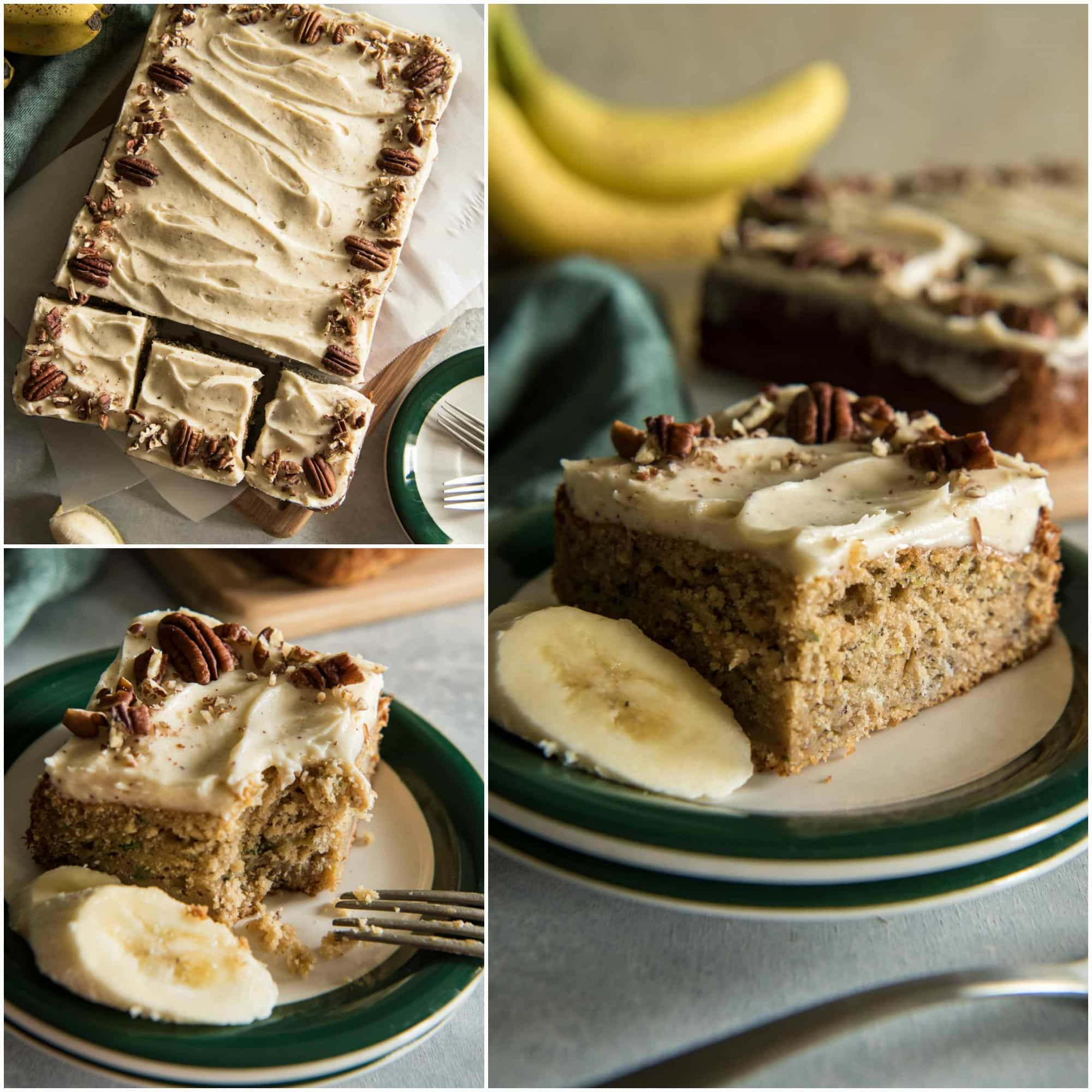 Chai Spiced Banana Zucchini Cake With Brown Butter Cream
