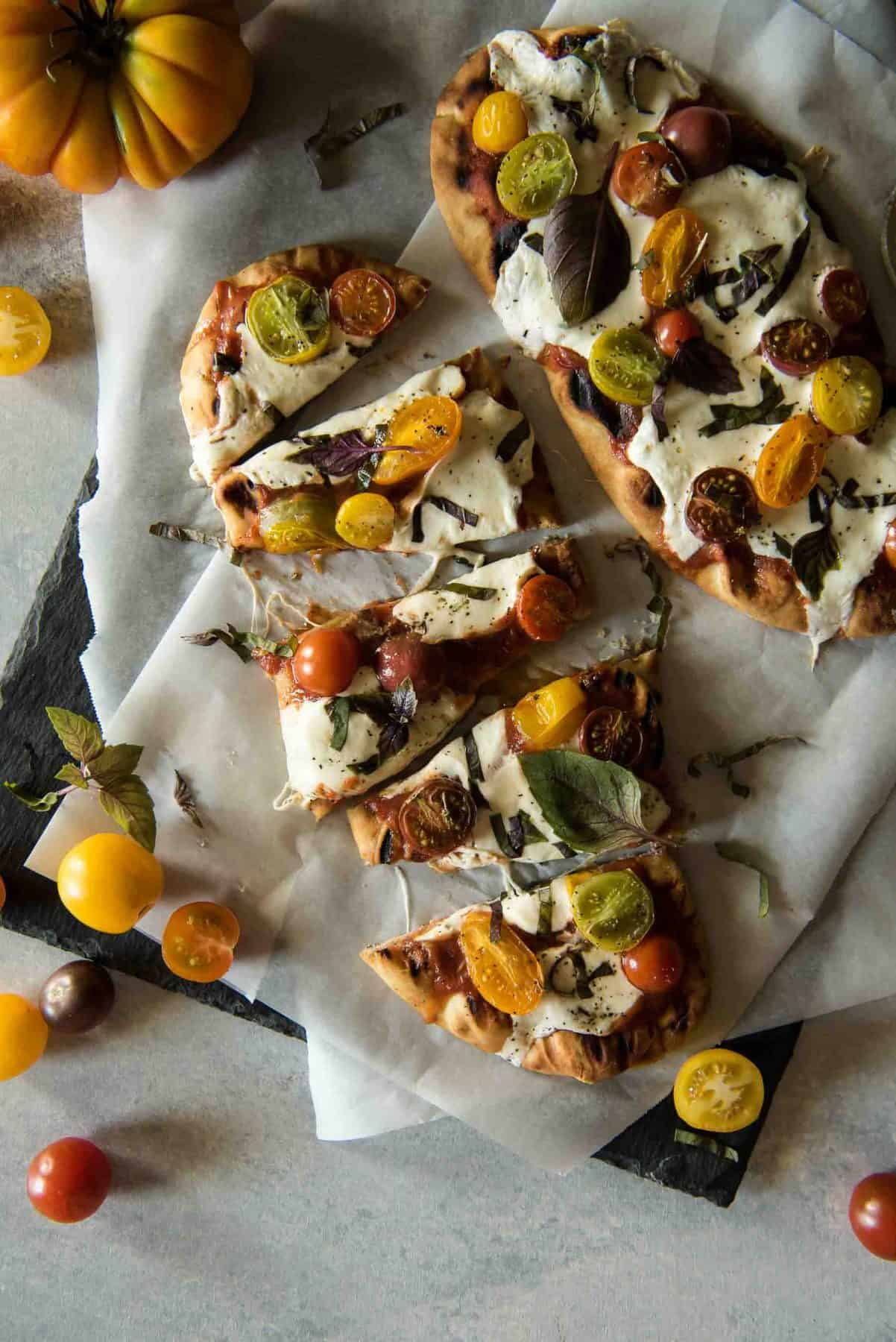 This Grilled Margherita Flatbread Is All The Delicious