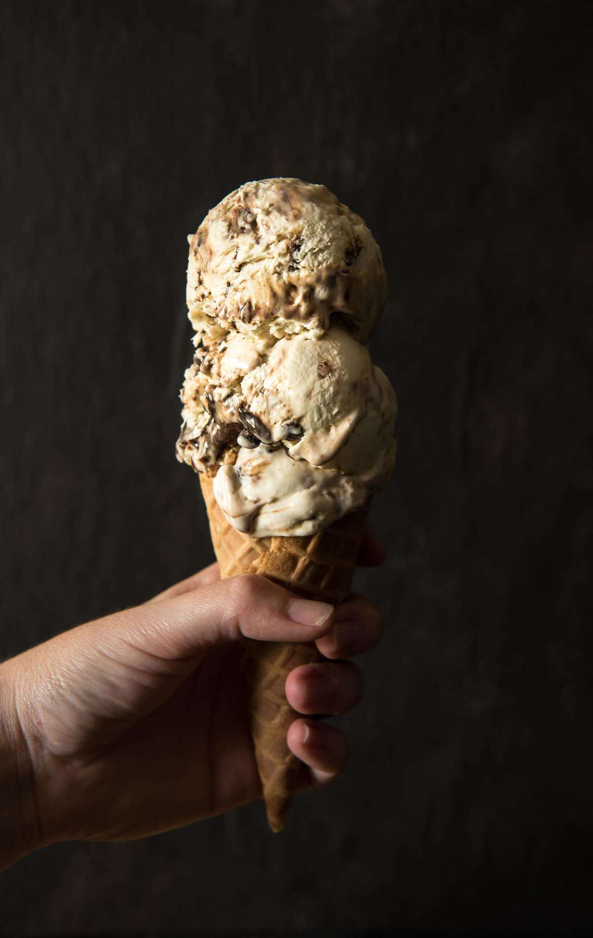 No-Churn Mocha Toffee Cheesecake Ice Cream