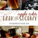 A simple seasonal twist on a popular rum cocktail - this Apple Cider Dark & Stormy replaces the ginger beer with autumn apple goodness.
