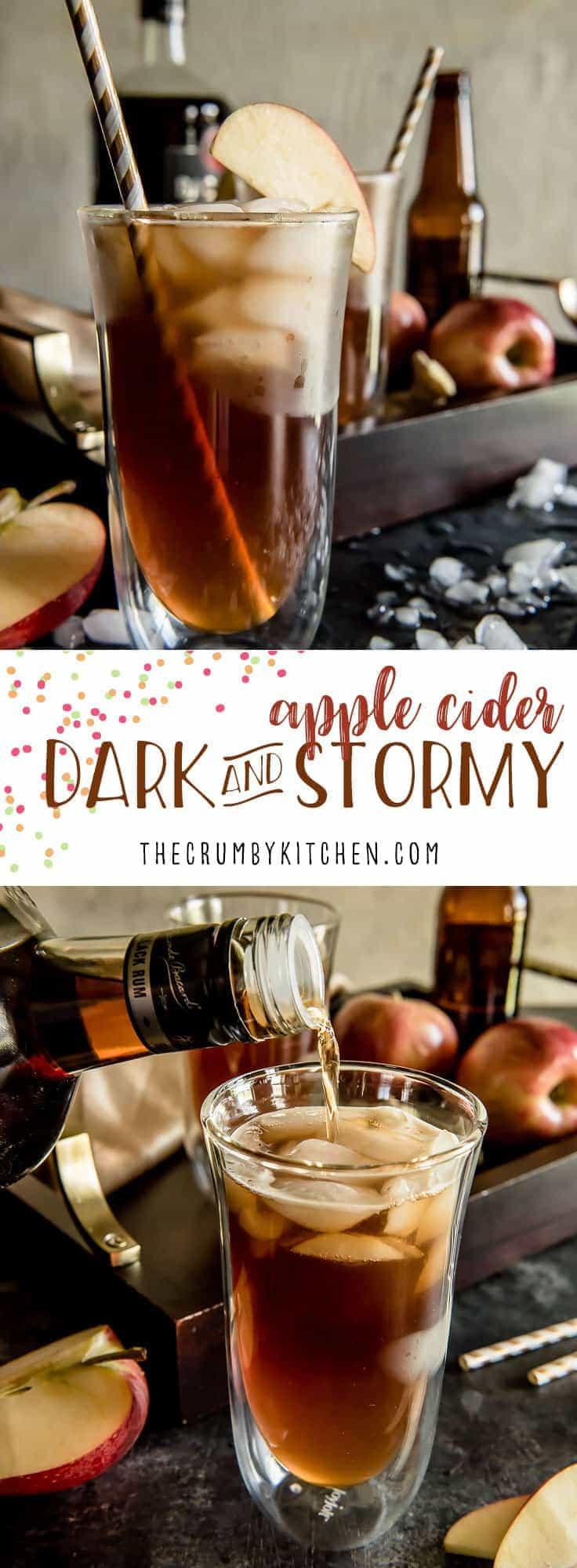 Apple Cider Dark & Stormy #AppleWeek - The Crumby Kitchen