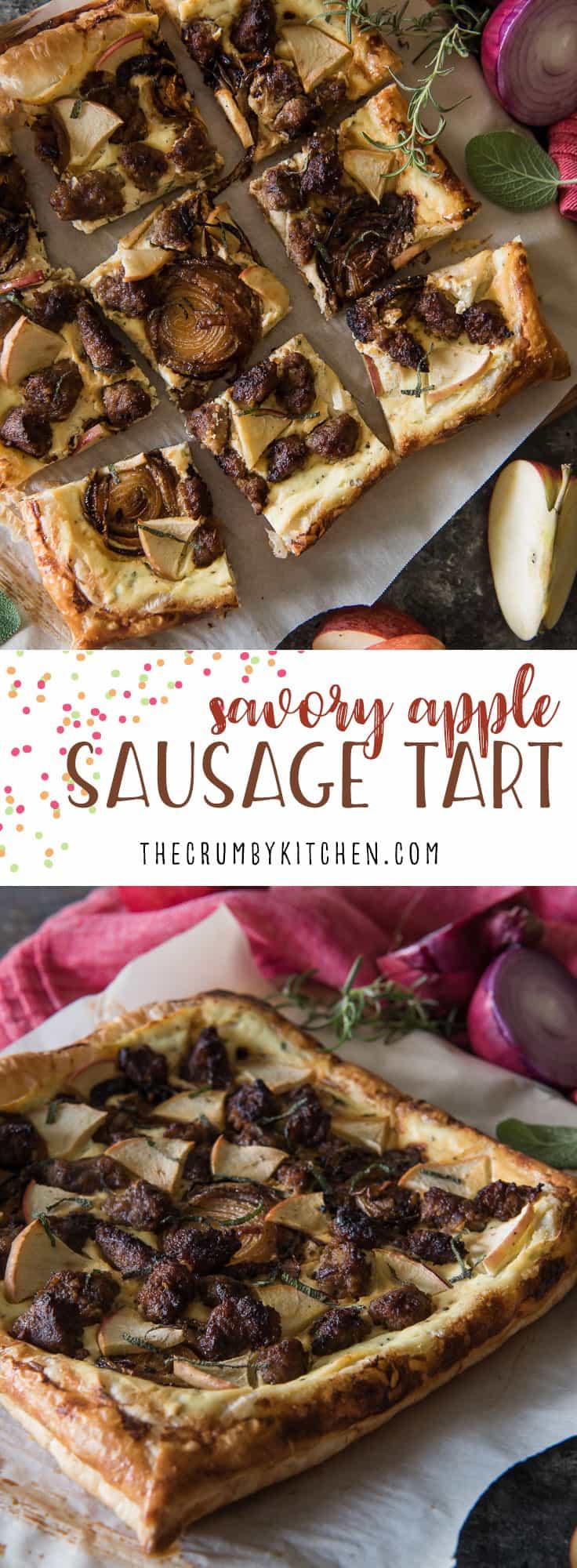 Savory Apple Sausage Tart Appleweek The Crumby Kitchen