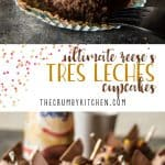These super-moist, delicious Ultimate Reese's Tres Leches Cupcakestake classic tres leches cake, shrink it down, and add a fun peanut butter twist! The ganache and chocolate whipped cream truly make these treats irresistible!