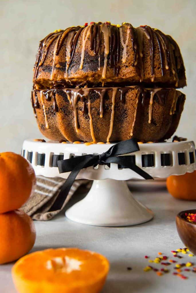 Chocolate Orange Marble Bundt