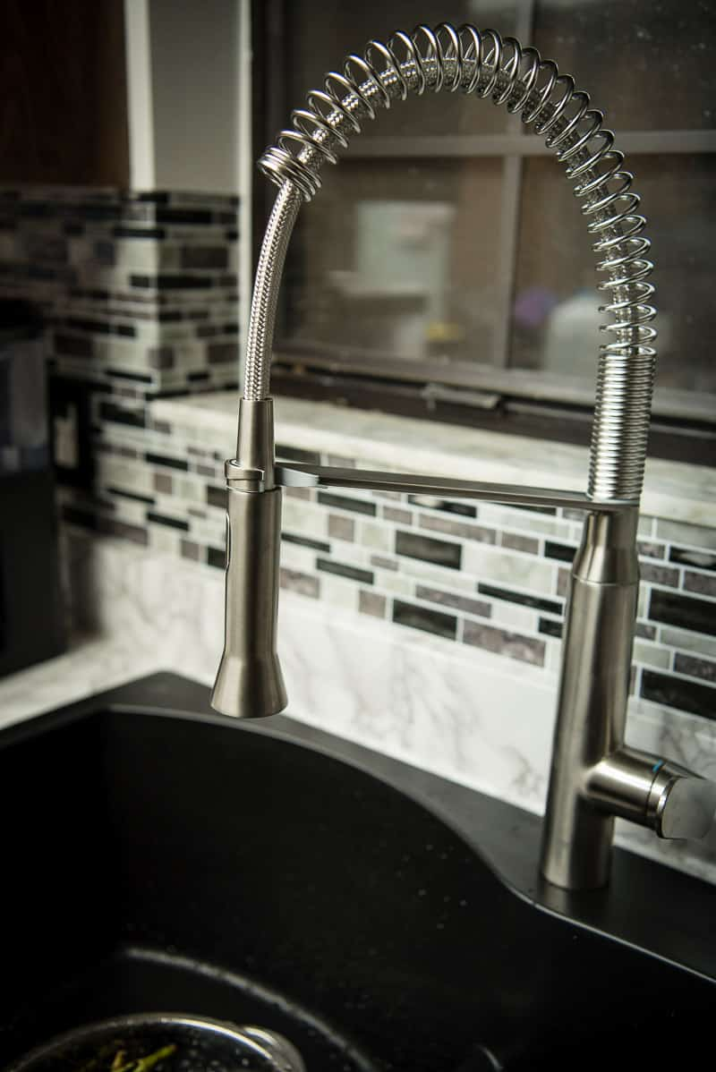 Welcome to The Crumby Kitchen Remodel Part One: Meet Our New Faucet! We're updating our dated '80s Formica kitchen into something modern & bright! | TheCrumbyKitchen.com