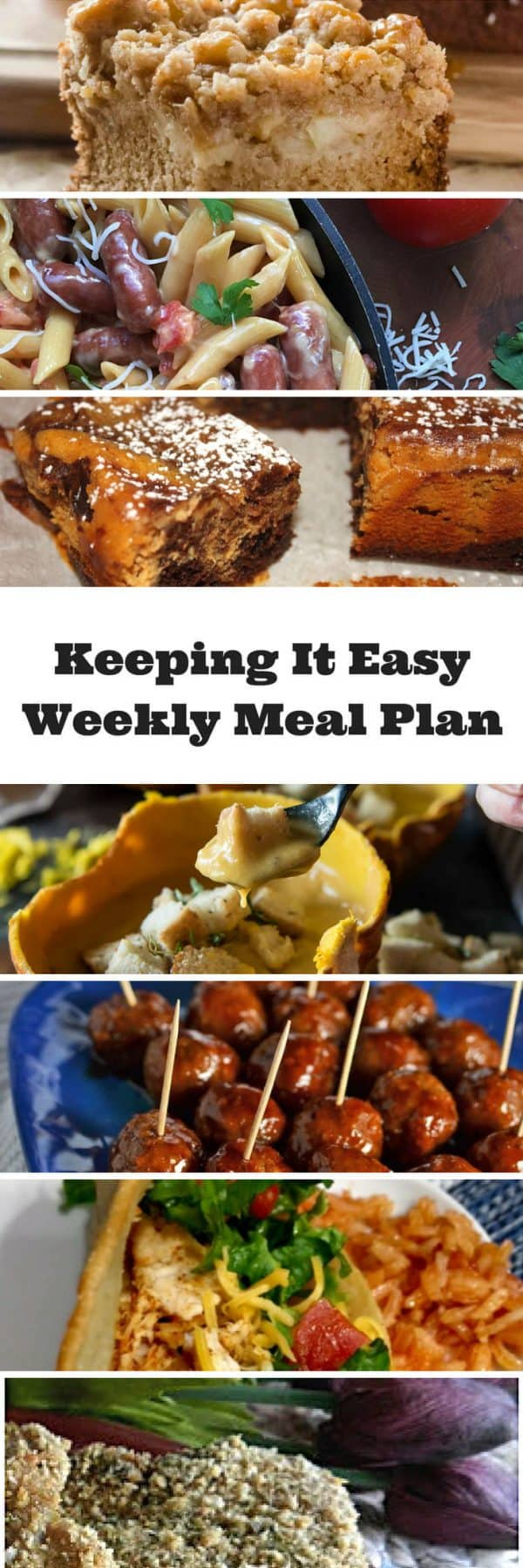 #KeepItEasy Meal Plan Ideas for the Week