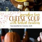 This rich and creamy Pumpkin Beer Cheese Soup gets the seasonal treatment, and the homemade herbed croutons add a happy crunch tothis satisfyingly easy meal!