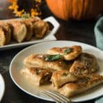 A seasonal take on Nana's Polish dumplings, these Pumpkin Walnut Sage Pierogi are extra delicious when paired with a brown butter cream sauce!