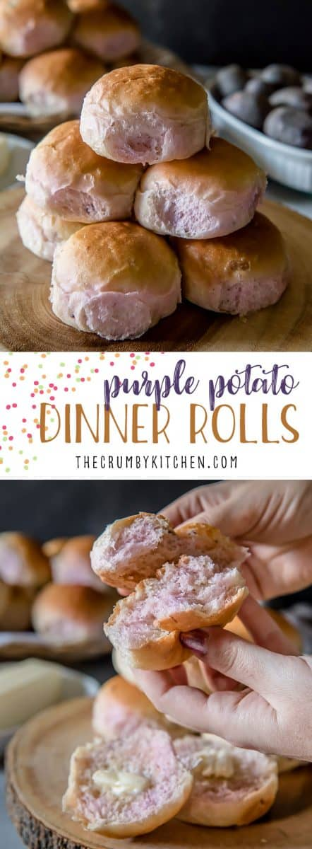Fluffy and supremely tender, these Purple Potato Dinner Rolls add a fun, unexpected splash of color to your table! Leftover potatoes never tasted so good!