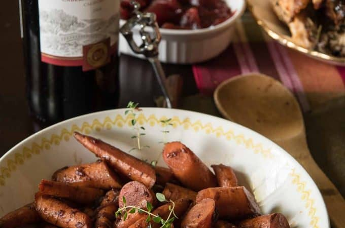 A little sweet, a little spicy, and totally delicious, theseRed Wine & Maple Glazed Carrots are about to be your new favorite side dish!