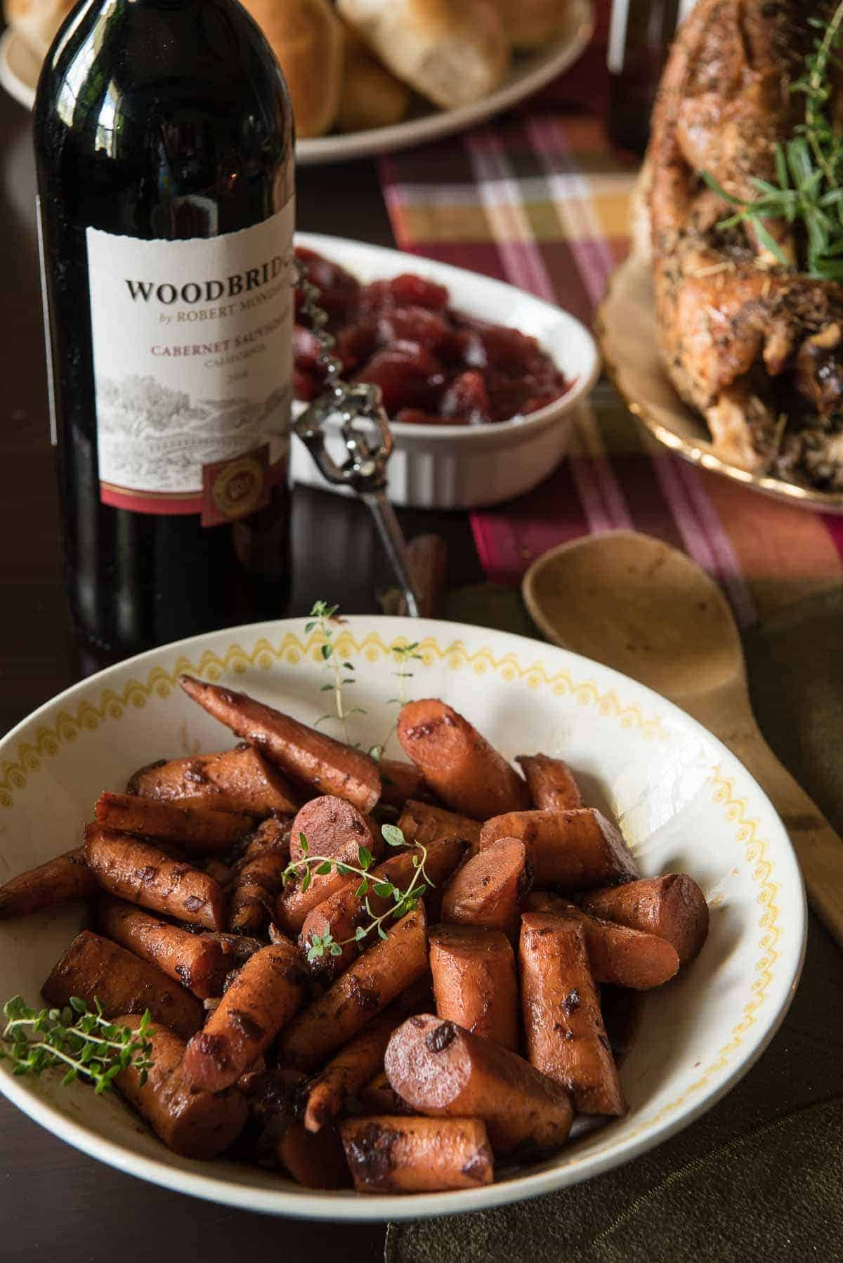 Red Wine & Maple Glazed Carrots