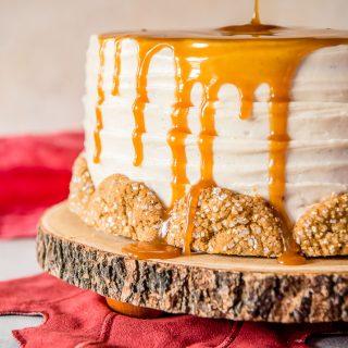 Bourbon Caramel Spice Cake drizzle