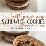 These soft, chewy Ginger Snap Sandwich Cookies will look so pretty on any cookie platter...and the rum cream cheese filling will make them a new favorite!