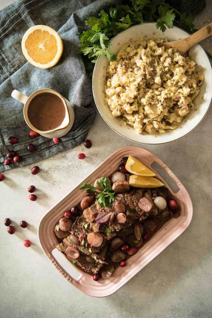 Cranberry Orange Instant Pot Beef Brisket