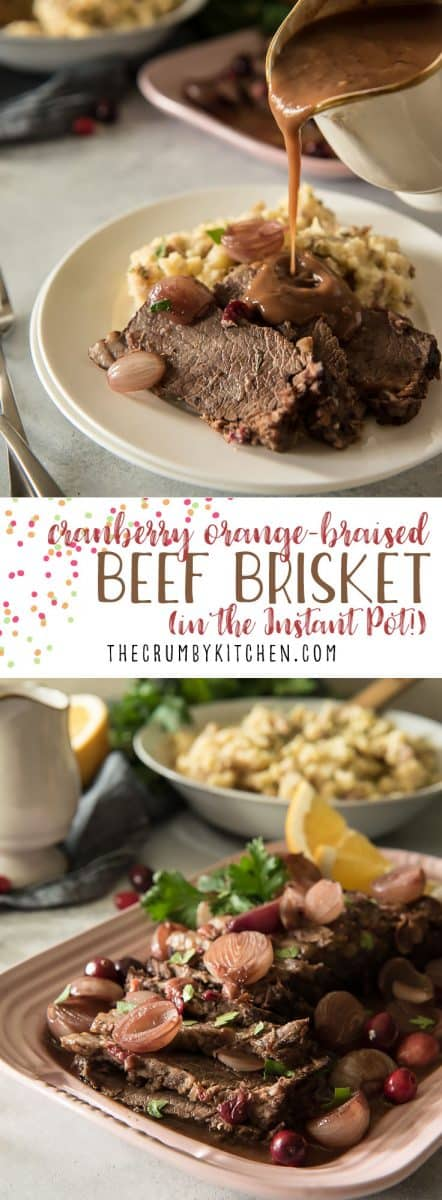 Prep your holiday protein elsewhere and save the oven for a better use - the pies! This Cranberry Orange Instant Pot Beef Brisket is moist, full of flavor, and ready in just over an hour!