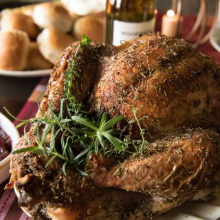 Juicy White Wine and Herb Roasted Turkey & Our Thanksgiving Menu!