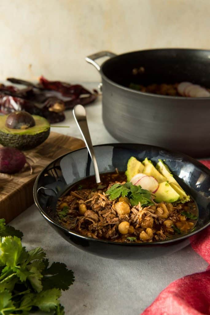 Bowl of Posole Rojo: The Best Pork and Hominy Stew