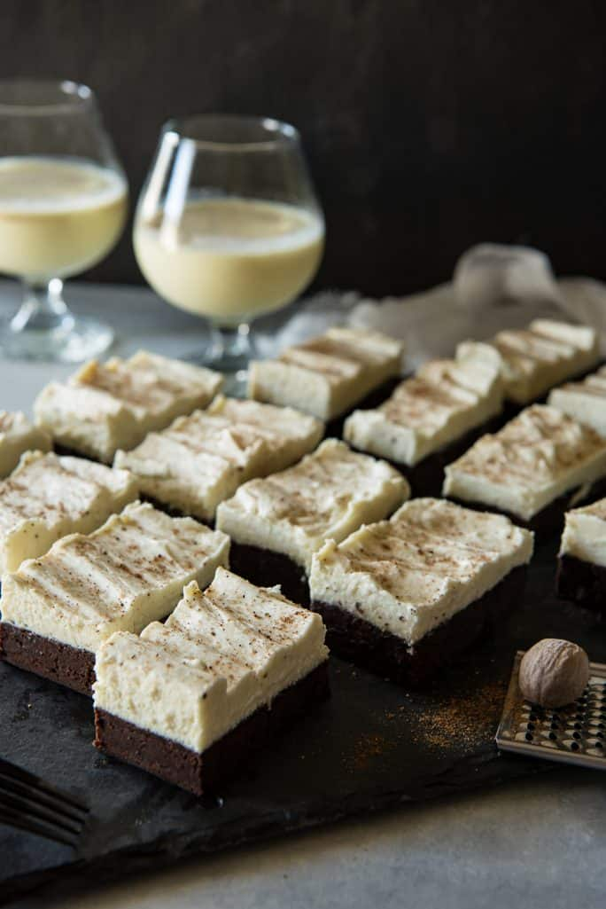 Eggnog Brownies