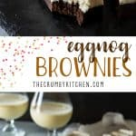 The fudgiest brownies with the fluffiest festive buttercream, these delicious Eggnog Brownies are going to be the hit of your holiday parties!