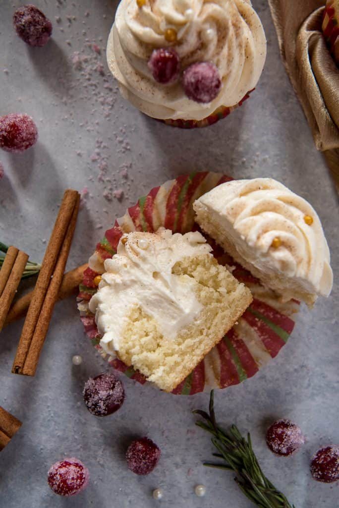 Horchata Cupcakes with Cinnamon Buttercream