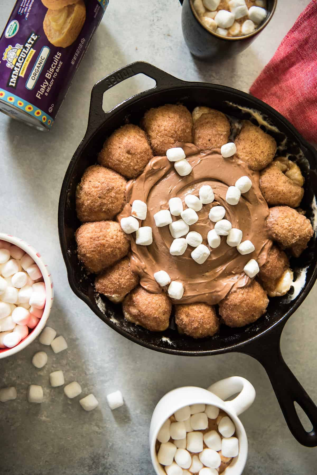 Hot Cocoa Dip Biscuit Ring