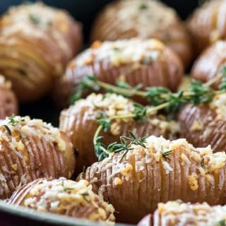Garlic Butter Hasselback Potato Bites