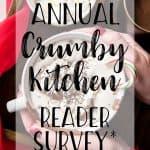 Crumby Kitchen reader survey graphic