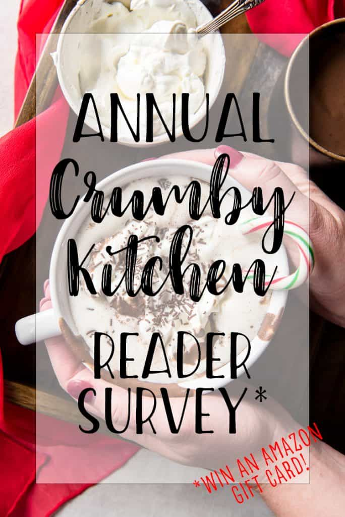 Crumby Kitchen reader survey graphic