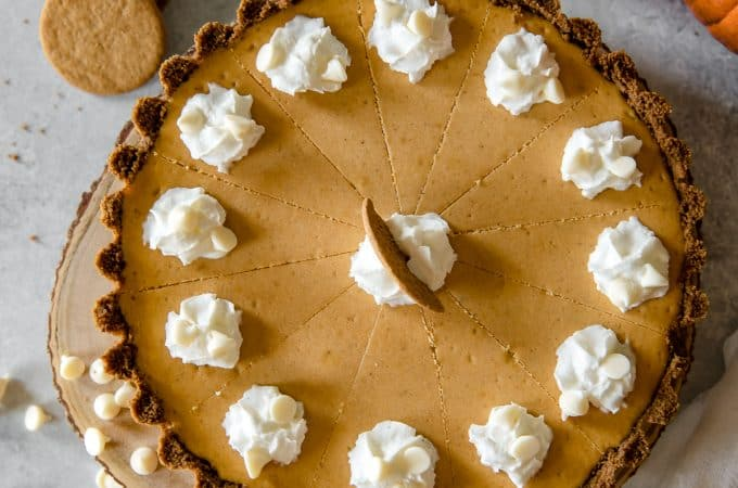 White Chocolate Pumpkin Cheesecake Tart