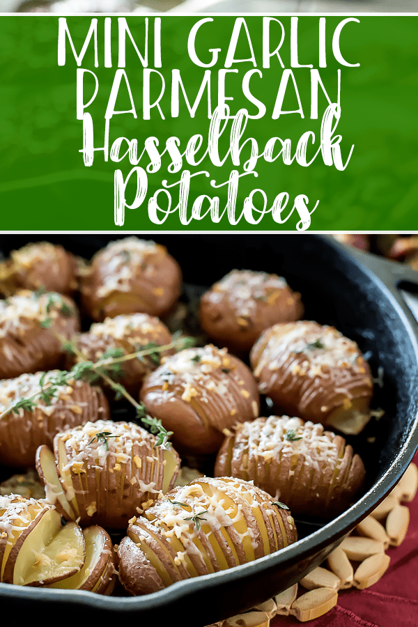 For when regular spuds just don't cut it...these impressive yet simple Garlic Butter Hasselback Potato Bites are an easy side dish or appetizer perfect for holiday entertaining, or any random night during the year!