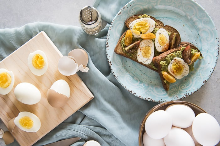 Instant Pot Perfect Boiled Eggs & avocado toast