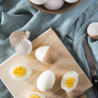 Instant Pot Perfect Boiled Eggs top shot