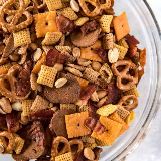 Smoky Bourbon Bacon Chex Mix