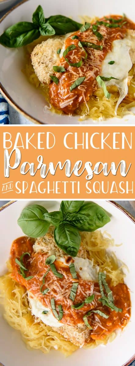 This moist,crispy, filling Baked Chicken Parmesan maybe a lightened up Italian classic - but it doesn't skimp on flavor! Serving it over steamed spaghetti squash instead of pasta also cuts those heavy carb-laden calories down to nearly nothing.