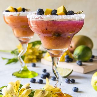 The Best Blueberry Mango Margarita