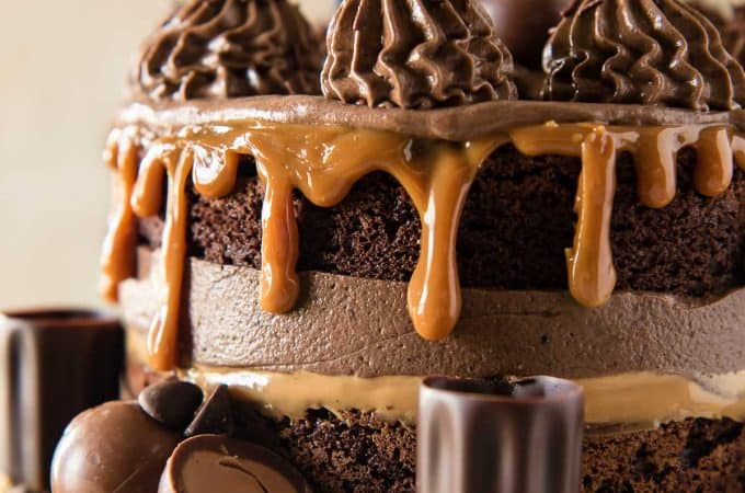 Caramel Martini Chocolate Mousse Cake