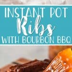 Fall-off-the-bone delicious Instant Pot ribs in under an hour?! It's possible! You don't have to fire up your grill or smoker to enjoy a rack of succulent baby back ribs - and the results are just as amazing thanks to an easy sweet and smoky bourbon barbecue sauce.