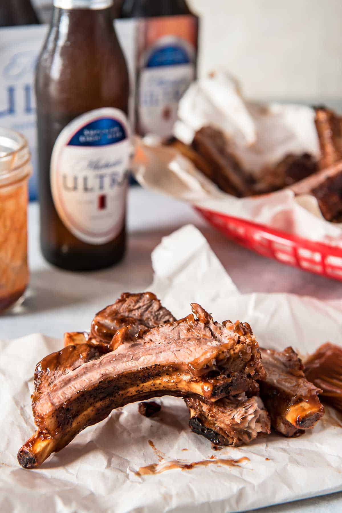 Instant Pot Ribs with Bourbon Barbecue Sauce • The Crumby Kitchen