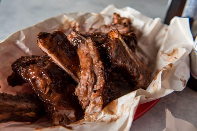 Instant Pot Ribs with Bourbon Barbecue Sauce
